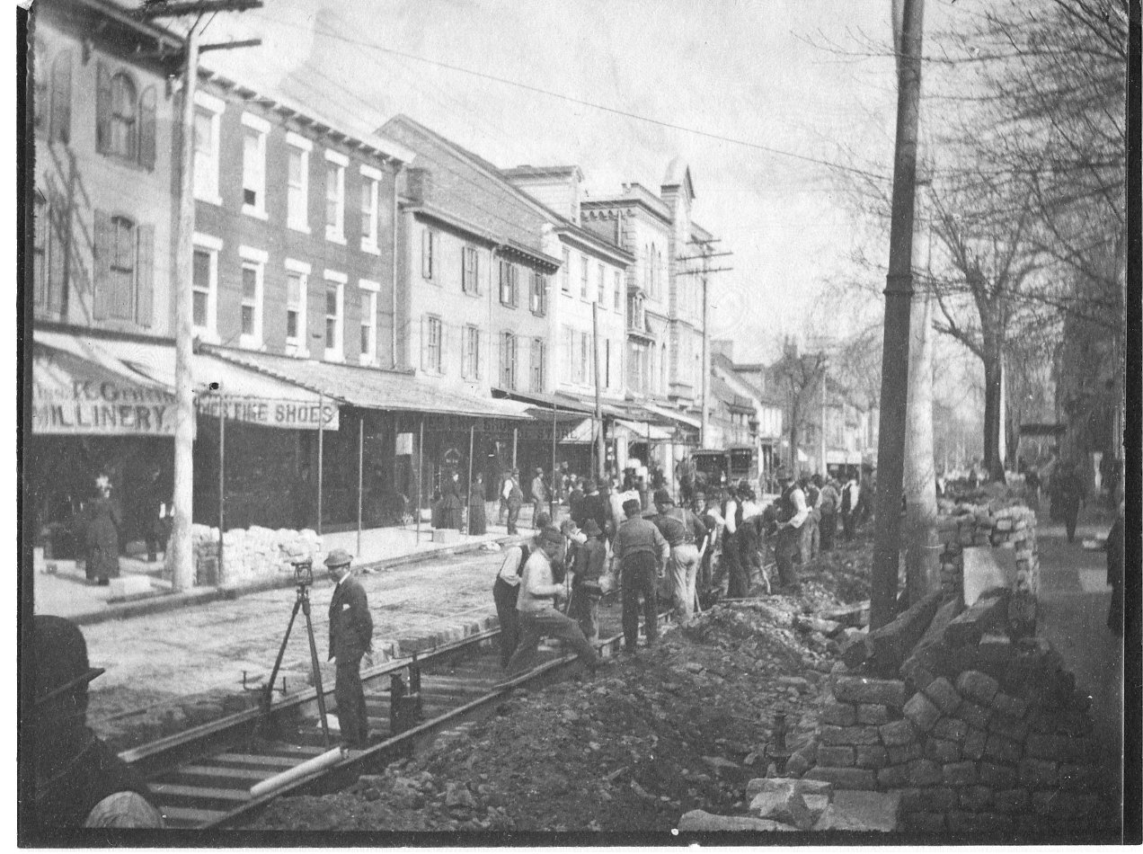 Marriott C. Morris. Replacement of Germantown Avenue Trolley Tracks, 1894. Collection of the Germantown Historical Society.