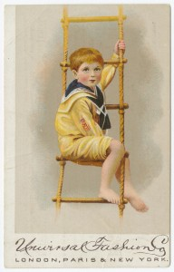 Universal Fashion Co. Trade Card, c. 1882