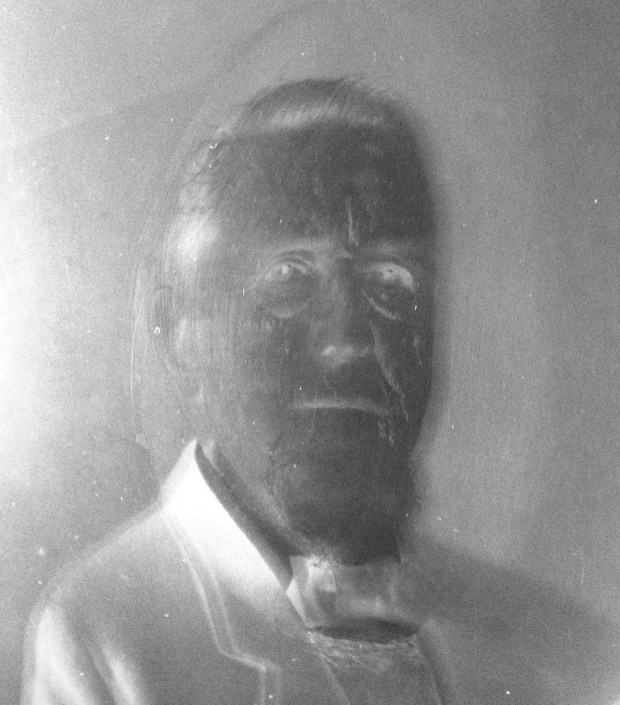 Marriott C. Morris, detail on negative of Elliston P. Morris, ca. 1890.