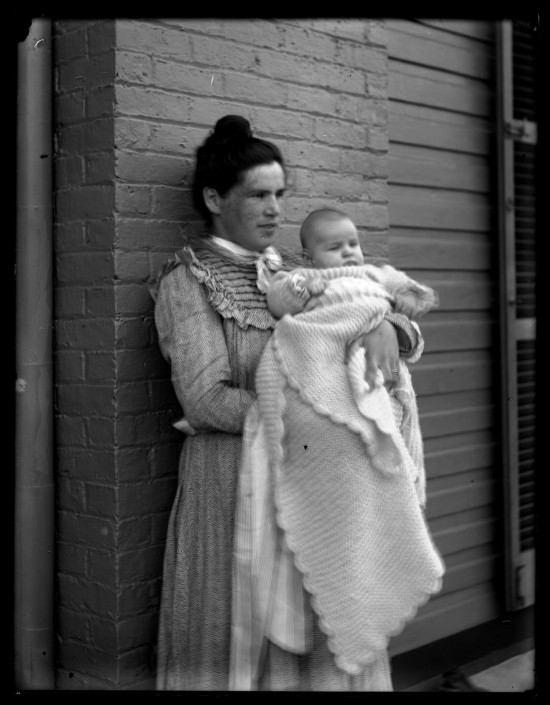 Marriott C. Morris, J.R.M. [Jane Rhoads Morris] & baby, ca. 1900.