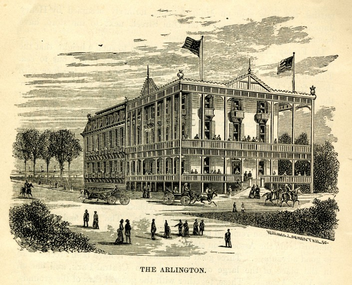 View of the Arlington from Service by the Sea. Ninth Annual Report of the President of the Ocean Grove Camp-Meeting Association of the Methodist Episcopal Church, 1878