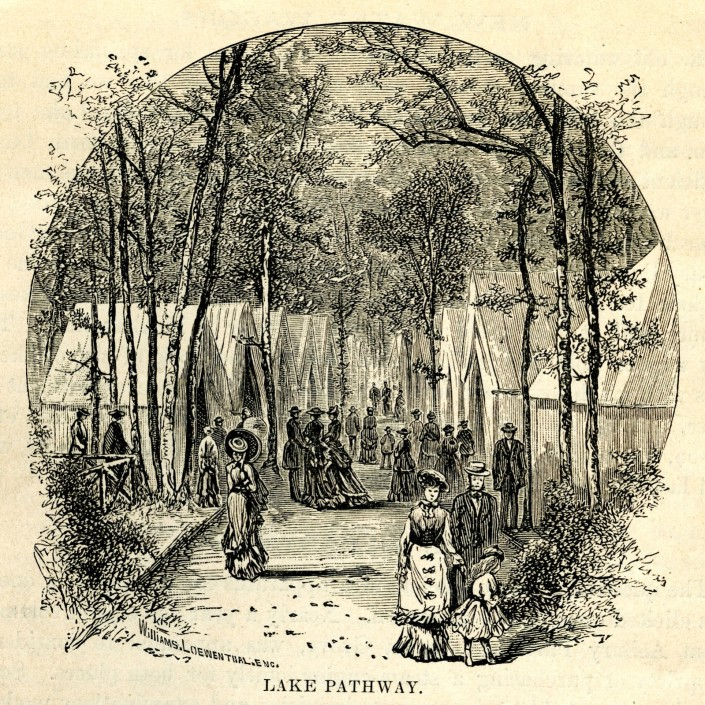 View of the tents from Service by the Sea. Ninth Annual Report of the President of the Ocean Grove Camp-Meeting Association of the Methodist Episcopal Church, 1878